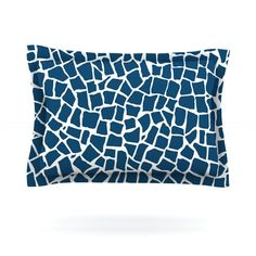 British Mosaic Navy by Project M Featherweight Pillow Sham