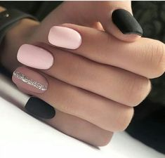 There are three kinds of fake nails which all come from the family of plastics. Acrylic nails are a liquid and powder mix. They are mixed in front of you and then they are brushed onto your nails and shaped. These nails are air dried. Stylish Nails, Trendy Nails, Cute Nails, My Nails, Best Acrylic Nails, Acrylic Nail Designs, Nail Art Designs, Nails Design, Dark Nail Designs