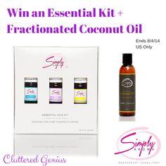 Win an Essential Kit (5mL Lavender, Peppermint, Lemon) plus Fractionated Coconut Oil ends 8/4/14