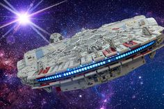 That's no moon! Amazing Lego Creations, South Bend, Millennium Falcon, Lego Star Wars, Location History, Brick, Explore, Twitter, Lego Moc