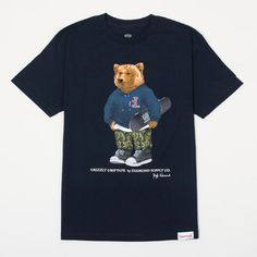 Grizzly Griptape by Diamond Supply Co. Tee in Navy