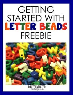 It's FREE.  Getting your class started using letter beads.  Several activities !