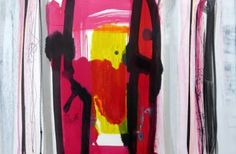 """Saatchi Art Artist Mark Fearn; Painting, """"Morning Reflections in the Pool"""" #art  Morning Reflections in the Pool  Abstract painting on paper in acrylic ink Inspired by the morning reflections on the swimming pool 22.8 x 15.9 inches http://www.fearnfineart.moonfruit.com"""