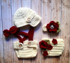 Twin Photography Prop Set in Ecru, Cranberry and Olive Green Available in 3 Sizes- MADE TO ORDER on Etsy, $68.00