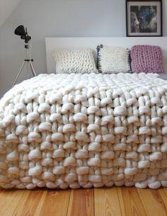 Chunky knit tiro coperta di lana grossa coperta di di PANAPUFA