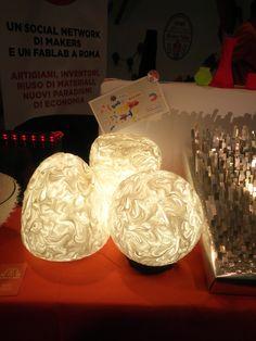 Beautiful silicon lamp by Giorgia Origa architect and designer in Roma Makers Stand