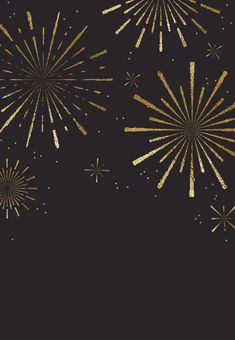 Golden fireworks - Graduation Party Invitation Template (Free) | Greetings Island