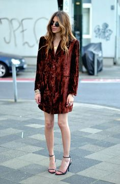 red velvet blazer dress