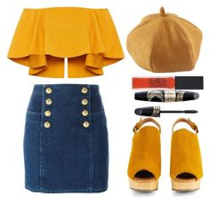 """""""Untitled #50"""" by samiovine ❤ liked on Polyvore featuring Balmain, Rachel Comey, Maybelline and Max Factor"""
