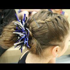 Hair for my gymnastics meet (: