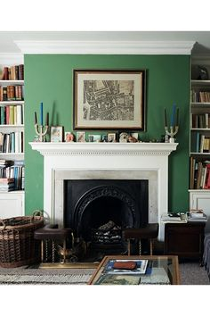 An ode to English Interiors is part of Boho Living Room Green - English Houses Inspirational Interiors from city apartments to country manor houses a look inside Ben Pentreath's new book on House by House & Garden Living Room Green, Boho Living Room, Green Rooms, Living Room Decor, Green Walls, Living Rooms, Room Color Schemes, Room Colors, Wall Colours