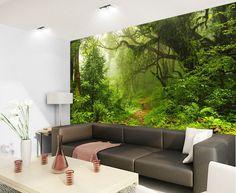 Tropical Dark Green Forest Nature Rainforest 3D Full Wall Mural Photo  Wallpaper Part 94