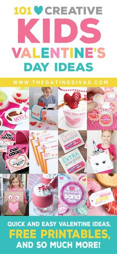A huge list of the BEST, creative ideas for Valentine's Day with the kids! www.TheDatingDivas.com