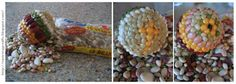 Easter Egg Crafts: Cover Styrofoam Eggs with Seeds and Beans