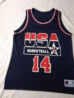 4a7d2b1c325 Alonzo Mourning Jersey Champion 44 Mens NBA Dream Team 2 USA Basketball  Vintage