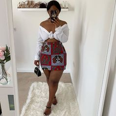 Hello weekend 😇🤩 Top from Discount Code: 💋 African Dresses For Women, African Attire, African Wear, African Clothes, African Style, African Women, African Fashion Ankara, African Print Fashion, Fashion Prints