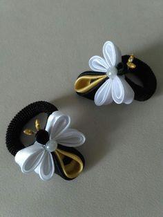 Diy Lace Ribbon Flowers, Cloth Flowers, Kanzashi Flowers, Ribbon Art, Ribbon Crafts, Flower Crafts, Ribbon Bows, Fabric Flowers, Kanzashi Tutorial