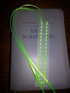 Bible book mark with extra ribbons for the 2013 edition of the New World Translation of the Holy Scriptures. Standard size. by LittleKnitsByLisa on Etsy https://www.etsy.com/listing/194373542/bible-book-mark-with-extra-ribbons-for