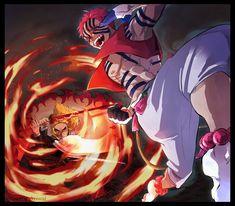 akaza kimetsu no yaiba Manga Anime, Anime Demon, Manga Art, Anime Art, Demon Slayer, Slayer Anime, Character Drawing, Character Design, Ninja