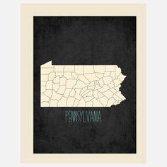 Fab.com | Pennsylvania State Map - Building Blocks Pediatric Dentistry | #Quakertown | #PA | www.buildingblocksdental.com