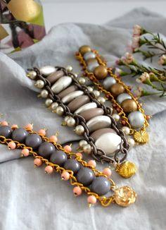 DIY Bead   Chain Bracelet | http://helloglow.co/diy-bead-chain-bracelet/