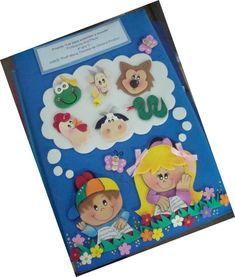 Capa para caderno decorada em EVA