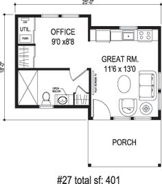 400 sq ft office plan. Sidekick Homes  The 400 This would make a great backyard office or IKEA Square Foot Home Small House 376 Feet