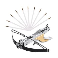 Woobud Mini Pocket Crossbow Pistol Tactical Self-defense Archery Bow With 10 Arrows and String(Metal Body,Self-cocking,Silver) #bowsandcrossbows