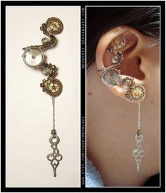 Unique steampunk ear cuff -- $23 -- from Meowchee on etsy.com (made for alice) #SteamPUNK ☮k☮