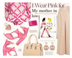 """I Wear Pink for..."" by katarina-blagojevic ❤ liked on Polyvore featuring Barbara Casasola, Derek Lam, Monique Lhuillier and IWearPinkFor"