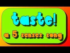 5 Senses Song- The sense of Taste! - YouTube