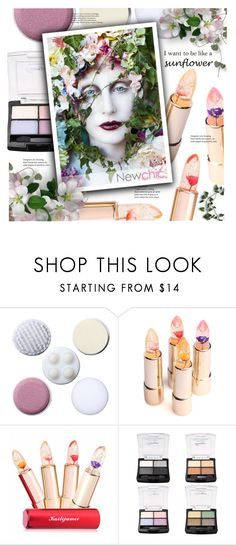 """""""i want to be like a sunflower( newchic beauty 7)"""" by meyli-meyli ❤ liked on Polyvore featuring beauty, Beauty, beautyproducts and newchic"""
