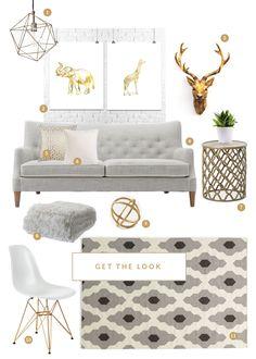 Серый & Золотой | Дизайн|Все самое интересное о дизайне, архитектура, дизайн интерьера, декор, стилевые направления в интерьере, интересные идеи и хэндмейд