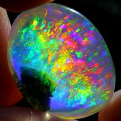 19.41Ct Flame Rainbow ContraLuz Ethiopian Welo Crystal Opal