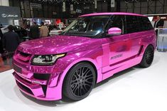 Hamann builds the Range Rover of Barbie's meth-filled dreams Now that's a pink car Maserati, Bugatti, Ferrari, Pink Lamborghini, Pink Range Rovers, Range Rover Sport, Porsche, My Dream Car, Dream Cars