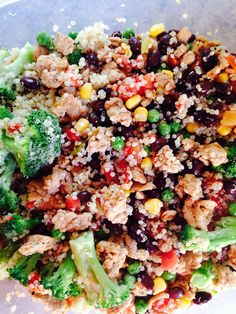 Fresh veggies, quinoa, rotel and black beans! Great meal to eat while on the 24 Day Challenge! www.advocare.com/140240790