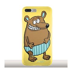 Coque iPhone 7 Plus souple ours en Maillot. Protection silicone gel pour smartphone Artiste Sophie Herout. #iphonecase #phonecases #iphone7pluscase #bear #ours #maillotdebain