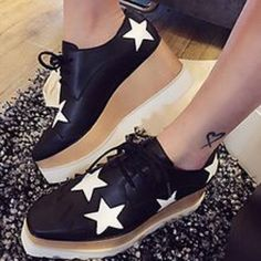 Choies Black/White Star Platform Brand New In Original Box. Never Worn. No Trades. Shipped Internationally To The US. 6.5 cm Heel Height. Choies Shoes Platforms