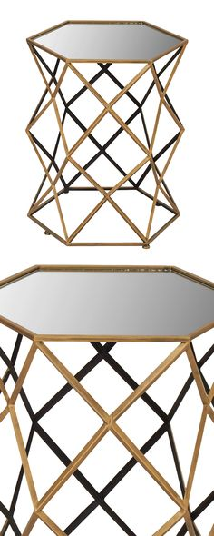 If straight lines and metal pieces are your thing, you'll want to get in the Critchfield Accent Table. But those with an eye for edgy contemporary design will love it's energetic vibe. A hexagonal glas...  Find the Critchfield Accent Table, as seen in the Bohemian Meets Mid-Century Collection at http://dotandbo.com/collections/bohemian-meets-mid-century?utm_source=pinterest&utm_medium=organic&db_sku=117129