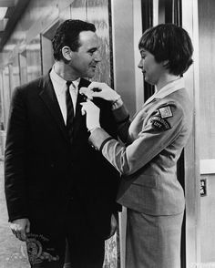 "jack lemmon as c.c. baxter & shirley m as fran kubelik in ""the apartment"""