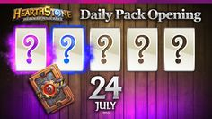 1 Epic & 1 Rare Hearthstone Cards!  Hearthstone Packs Opening Daily, Jul...