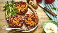 Voňavé podzimní mlsání: ořechovo-kokosové koláčky sovocem Healthy Cookies, Food And Drink, Gluten Free, Sweets, Baking, Ethnic Recipes, Basket, Glutenfree, Gummi Candy