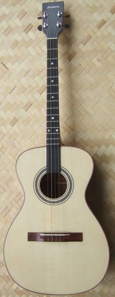 Po Mahina's, Buddy Fo hawaiian Tenor Guitar #LardysChordophoneOfTheDay ~ https://www.pinterest.com/lardyfatboy/lardys-other-fretted-chordophones-of-the-day/ ~