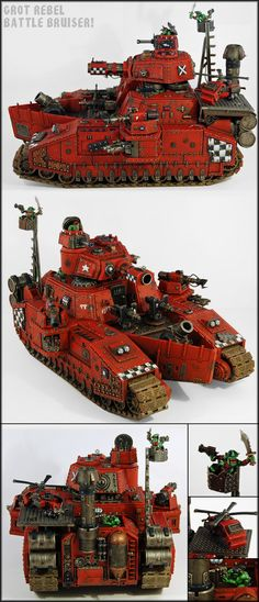 Grot looted baneblade