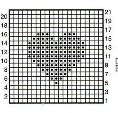 Free graph patterns for crocheting | Cats-Rockin-Crochet Fibre Artist.: Crochet Heart Squares