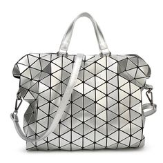 30.00$  Buy here - http://ali3pa.shopchina.info/go.php?t=32800135122 - Fashion women handbag Geometry Sequins Saser Quilted Plaid Folding Bag Lattice briefcase Shoulder Bags  #magazineonlinebeautiful