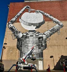 PHLEGMjpg Art Sortout Pinterest - Awesome mechanical shark mural phlegm