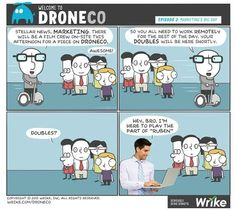 Welcome to DroneCo, episode 2: Has DroneCo found a winning video marketing strategy? (#comic)