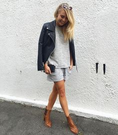 Elyse Knowles in our grey marl set - kite tank and fracture short. New Outfits, Summer Outfits, Fashion Outfits, Elyse Knowles, Glam Dresses, Edgy Style, Daily Fashion, Casual Chic, Autumn Fashion