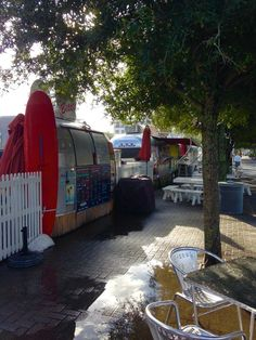 Airstream food trucks in Seaside, Florida...don't miss the grilled cheese truck!